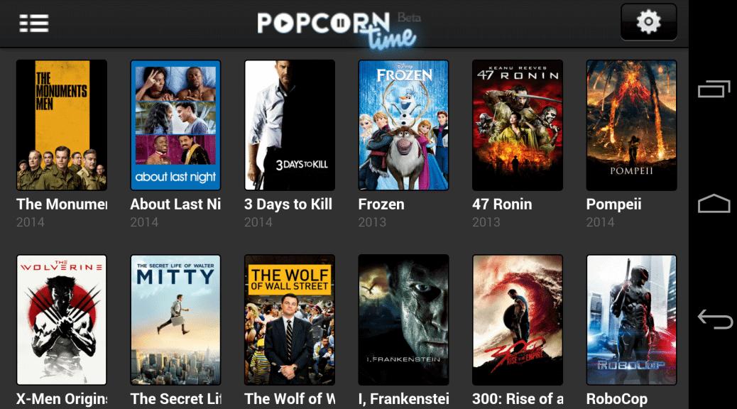 Popcorn Time, le roi du streaming torrent débarque sur Android | Le blog de Constantin image 1