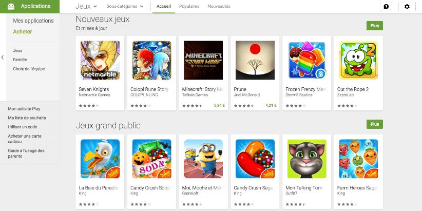 Google dévoile les top 10 des jeux les plus téléchargés dans 6 catégories ! | Le blog de Constantin